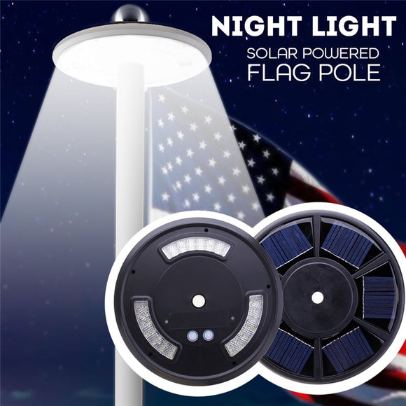 Flag Pole Lights Black/White Tent Lights Emergency Lamp 42 LED Outdoor Solar Power Lamp