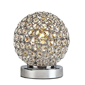 Crystal Table Hardware Plating Spherical Crystal Table Lamp
