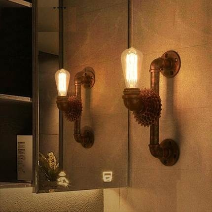 Industrial Vintage Wall Light Fixtures Edison Wall Sconce Indoor Lighting Iron Gear Water Pipe Lamp