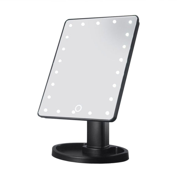 Beauty Makeup Mirror And  Lights 360 Rotation 22 LED Bulbs Mirror Cosmetic