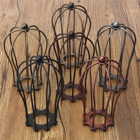 Industrial Vintage Lamp Covers Metal Wire Pendant Cage Ceiling Hanging Guard Lamp Shades