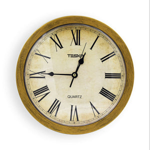 Retro Gold  Wall Clock Diversion Safe Secret Security Stash Cash Money Jewelry security  box