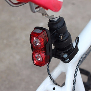1pcs Cycling Night Super Bright Red 2 LED Rear Tail Light