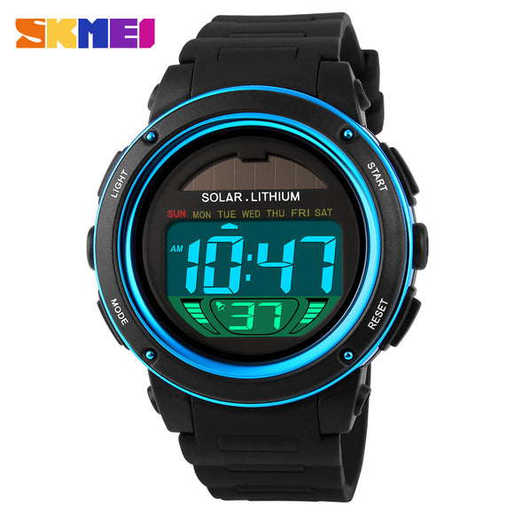 Digital Chrono 50M Water Resistant Solar Power Men Watches Relogio Masculino