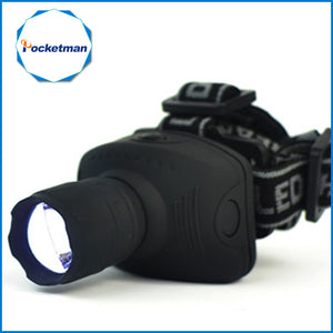 Zoomable 1800Lumen Headlamp CREE LED Headlight Flashlight Frontal Lantern
