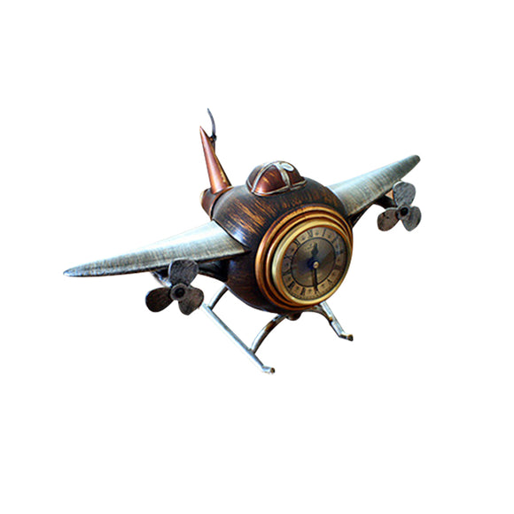Wine Barrel Retro Airplane Desk Top Alarm Clock