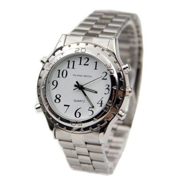 Help Tell Time With This English Talking Clock For The Blind And Visually Impaired Watch