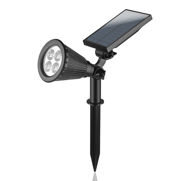 LED Lawn Solar Light Wall Lamp Waterproof Lamp Auto On Low/High Lighting with Spike