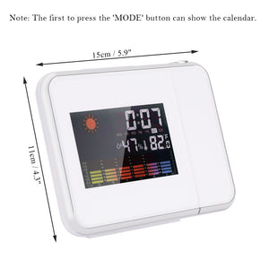 Alarm Clock Forecast Weather Desk Clock LCD Display Thermometer Humidity Snooze