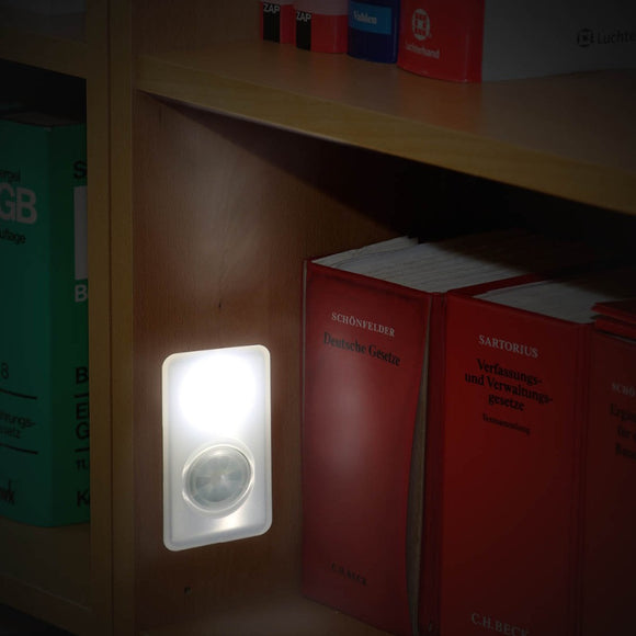 Motion Sensor Night Light Wireness LED Wall Lamp Emergency For Cabinet Hallway Staircase
