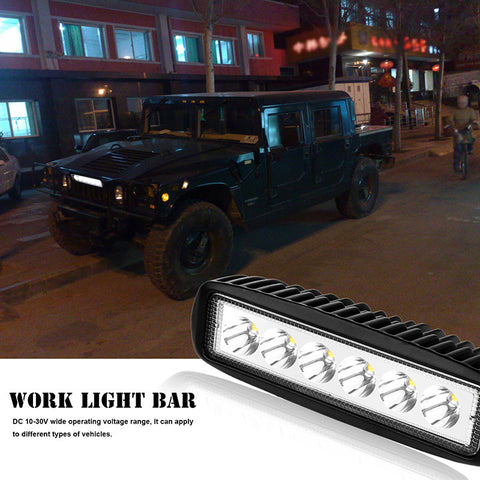 6-LED Work Light Bar Fog Flood Lamp for Offroad 4WD Boat ATV Driving