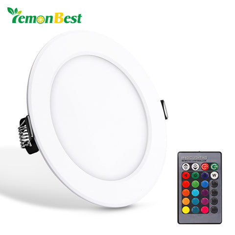 Ceiling Lamp Round RGB LED Panel Light Concealed Recessed with Remote Control