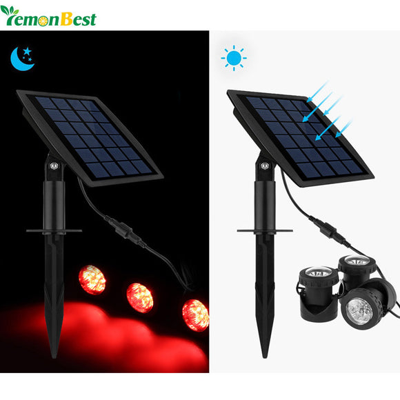 Garden Pool Pond Solar Lights Outdoor 18LEDs Underwater Spotlights