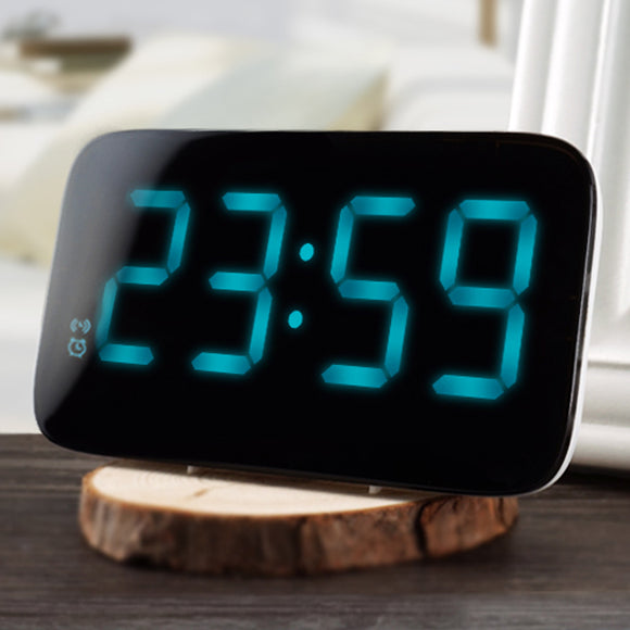 Voice Control Large LED Display Electronic Snooze Backlinght Digital Table Alarm Clocks