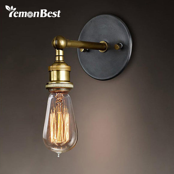 Adjustable Industrial Metal Wall Light retro brass wall lamp country style Sconce Lamp Fixtures