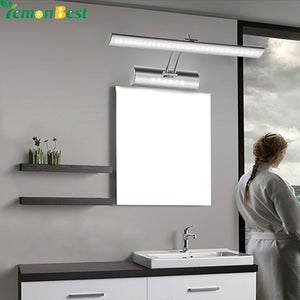 "7W 21.8"" inch Bathroom Mirror Front Light LED Stainless Steel Wall Mounted Wall Lamp"