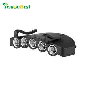 Ultra Bright COB 200LM LED Cap Light Hands-free Hat Clip Lamp