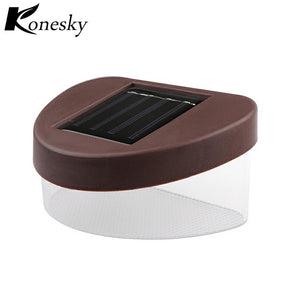 2-LED Light Wall Lamp Cool White Auto ON/OFF Waterproof Solar Outdoor Courtyard