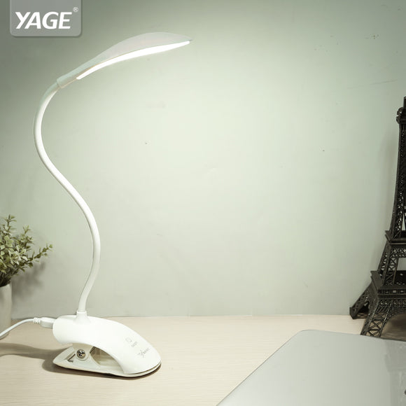 USB Table Lamp 14 LED Table lamp with Clip Desk lamp Table Touch on/off Switch