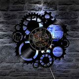 LED Lighting Color Changing Wall Lamp With Remote Control 1Piece Steampunk Clock