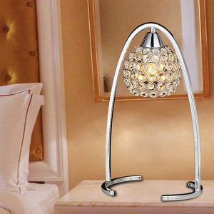 Modern Silver/Golden Crystal Hanging Bedroom Desk Lamps
