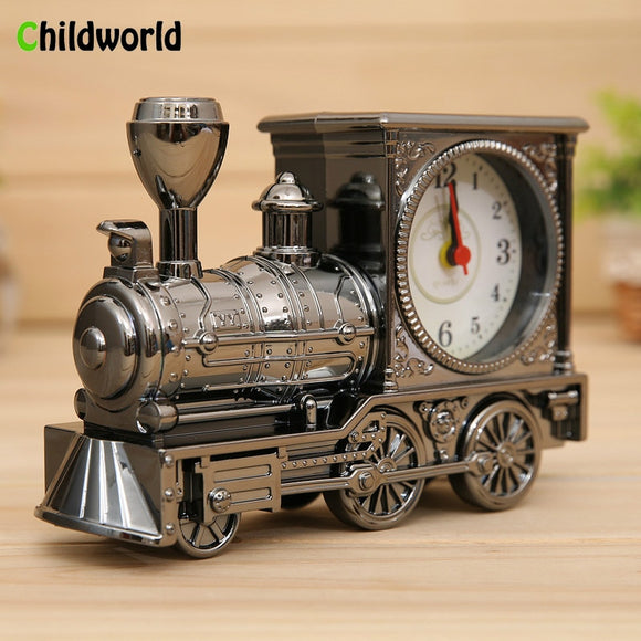 Home Decor Nostalgic Train Alarm Clock For Home Or Office