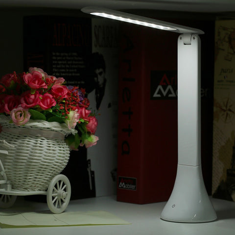 Dimmable Foldable LED Reading Light USB Rechargeable Table Lamp