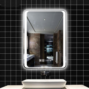 LED Bathroom Mirror Defogger Light With Bluetooth Touch Screen LO111151