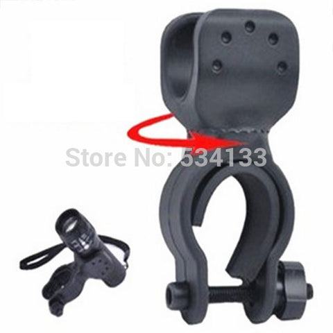 Universal Black Rubber Bicycle Bike Mount Bracket Holder LED light Lamp Flashlight