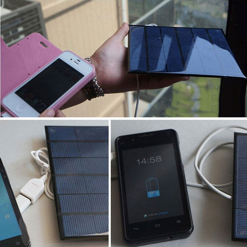 Solar Battery Panal Charge Whenever And Wherever You Are With This 3.5W Charger