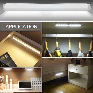 6/10 LEDs 98/190mm Lighting For Wardrobe Cupboard Closet Kitchen Night Light