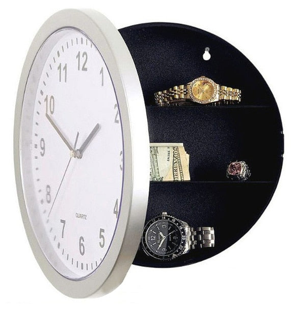 Wall Clock Safe Money Container Mechanical Storage Box