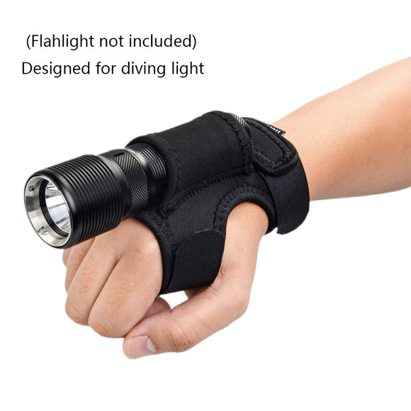 Wrist or Portable Arm Holder Fishing Diving Hunting Hand Free Wrist Flashlight