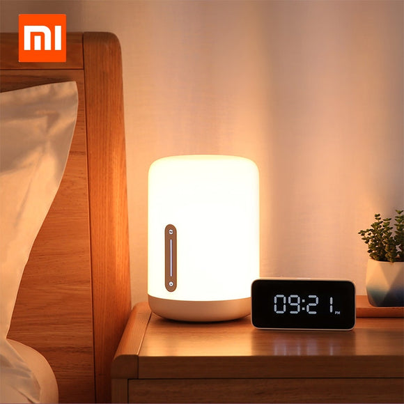 Bedside Lamp 2 Smart Light Voice Control Touch Switch LED Bulb Clock
