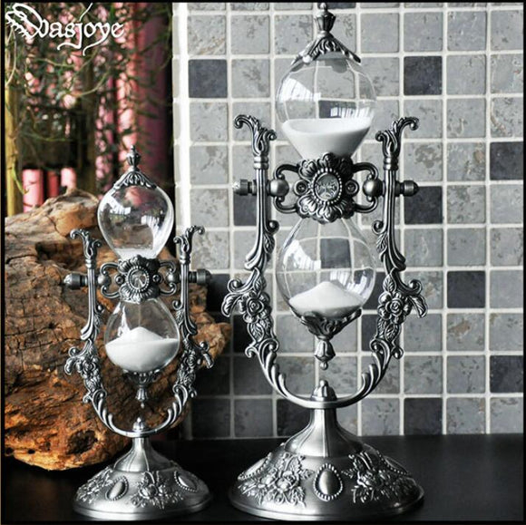 Metal Sandglass Clock Tea Timers 15/30 Min Hour Glass