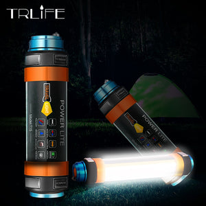 Waterproof Rechargeable Magnetic Hiking Working Fishing SOS Flashlight USB LED Lantern