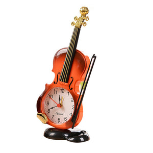 Home Or Office Decor Handmade Crafts Unique Violin Desk Top Alarm Clock