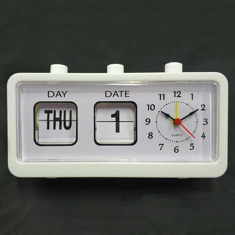 "Retro Flip Down Clock Date Time Auto Page Table Clock 8"" x 2"" x 4 "" inch"