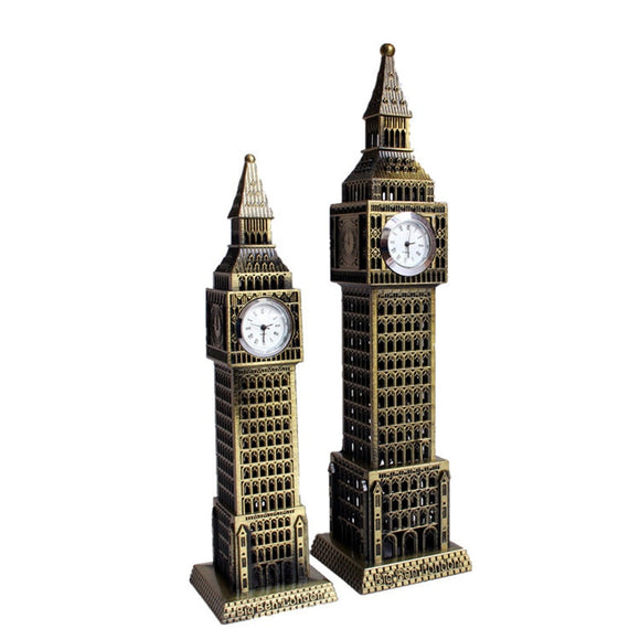Desk Table European London Big Ben Antique Style Clock