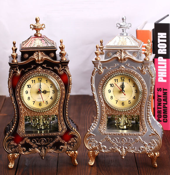 Vintage Classical Royalty European Style Pendulum Desk Top Stopwatch Clock