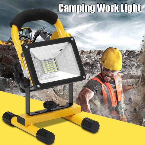 Camping Light Rechargeable Handheld Work Light LED Spotlight Searhlight Power By 18650 Portable Lantern