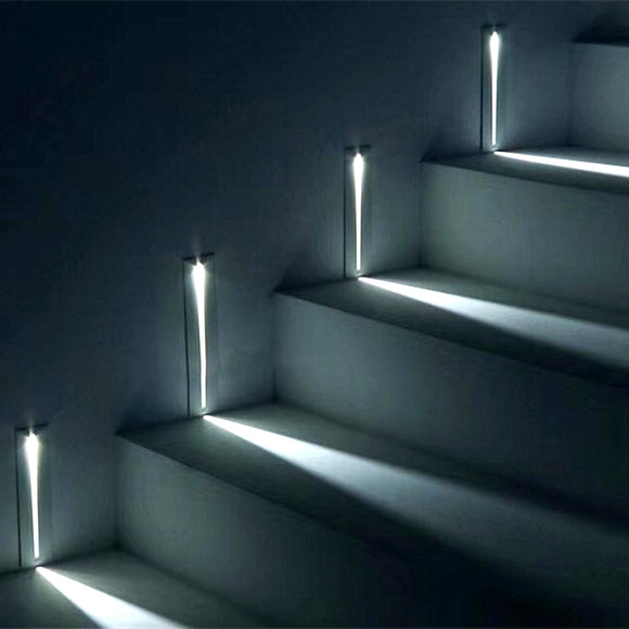 Aluminum Shadeless Corner Wall lights Stairs Step Hallway Staircase 3W LED lamp