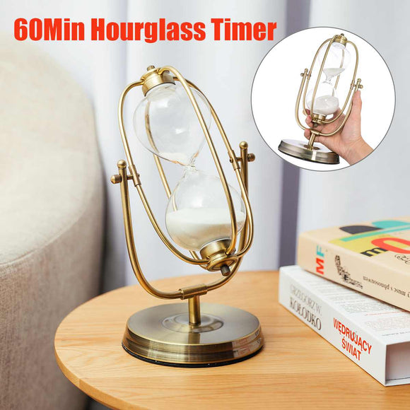 Modern Wooden Hour Glass Sandglass Sand Clock 60 Min Hour Glass