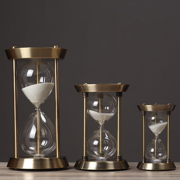 Metal Timer Sand Timer Wooden Hour Glass Clock