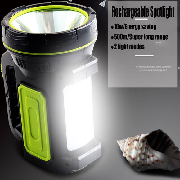 Rechargeable 10W U.S. Regulations Portable Spot Flashlight Waterproof Handy Hand Flashlight