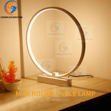 LED Desk Lamp Dimmer Color Ring Shape Reading Study Lamp Office Table Light