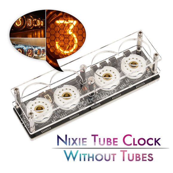 Digital Nixie Tube Clock DIY KIT/Assembled Without ZM1020 Z560M Tubes Mini Retro Clock