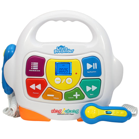 Little Pretender Kids Karaoke Machine - Sing Along MP3 Music Player with 2 Microphones - Plays Music via Bluetooth, SD, USB, Aux &FM Radio