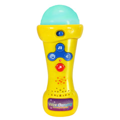 Kids Karaoke Microphone with Voice Changer, Record & Playback, Built-in Tracks and LED Lights