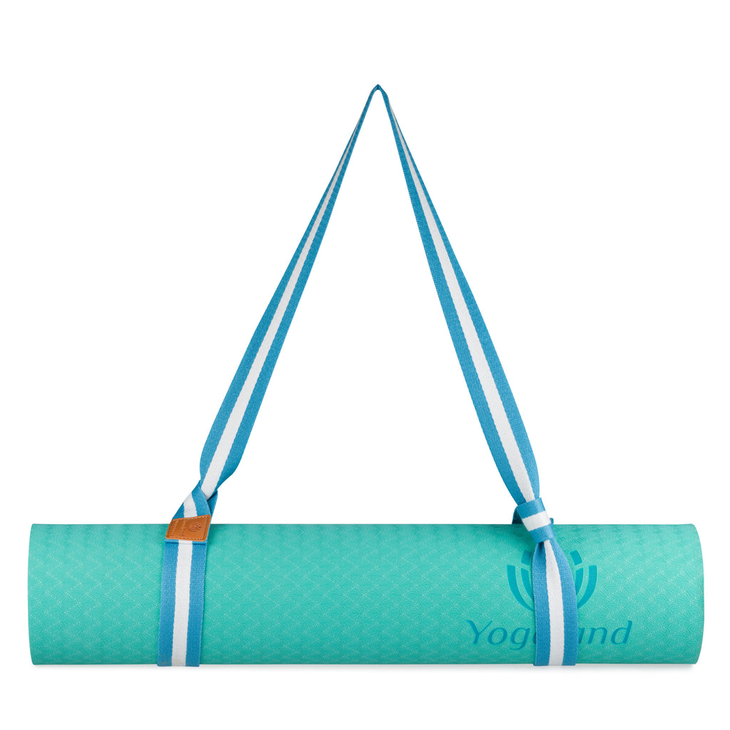 YOGALAND Premium Yoga Mat with Carrier Strap - Yoga Mat 6mm 1/4-Inch Thick, Non-Slip, Eco-Friendly Lightweight, Extra Large 72 x 24 for Yoga, Pilates, Exercise, Fitness (Green)